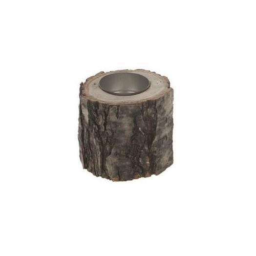 Κορμός δέντρου - κηροπήγιο, 8.5x7.5cm