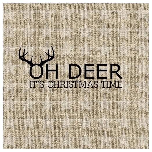 Χαρτοπετσέτα για Decoupage Oh Deer, gold , 1τεμ