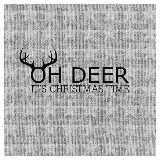 Χαρτοπετσέτα για Decoupage Oh Deer, silver, 1τεμ