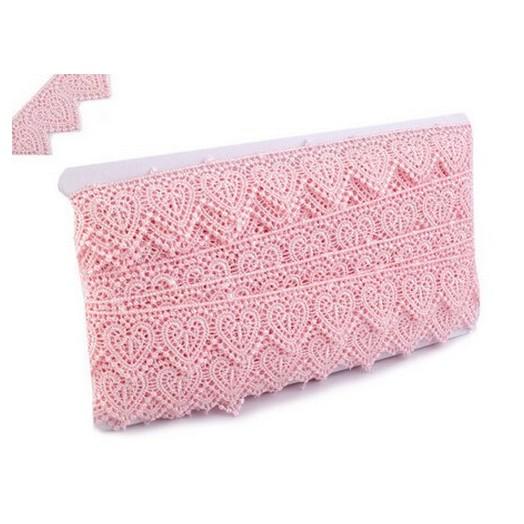 Δαντέλα Guipure Pink 35mm, 1m