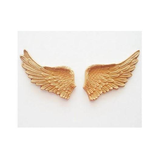 Ξυλόγλυπτα φτερά ζευγάρι 11,5x5,5cm