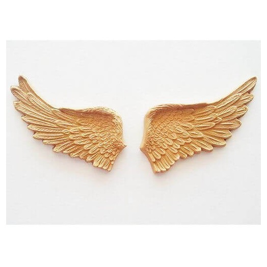Ξυλόγλυπτα φτερά Large ζευγάρι 15,5x7,5cm