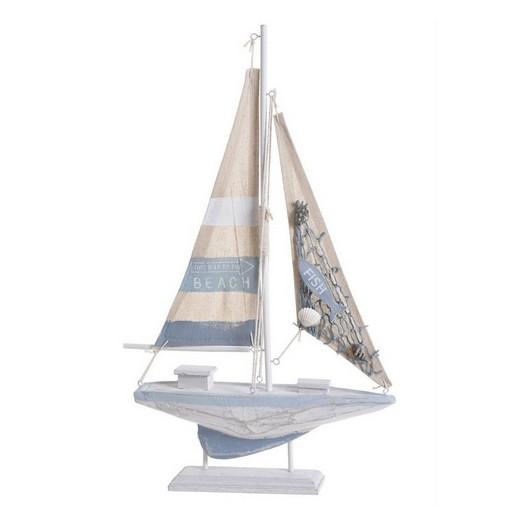 Καραβάκι ξύλινο διακοσμητικό, 43x24,5 cm