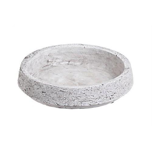Τσιμεντένια βάση λευκή, 23x23x5cm