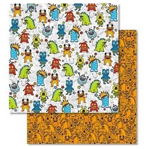 Χαρτί Scrapbooking Ursus με Glitter 30,50x30,5cm , Monster
