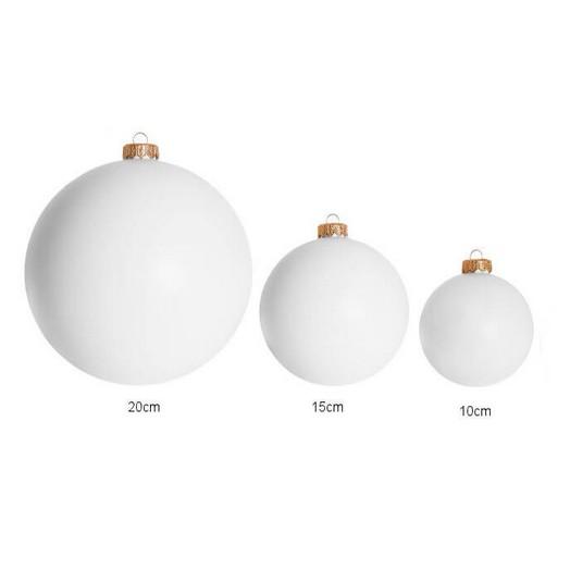 Μπάλα πλαστική λευκή για διακόσμηση 10 cm