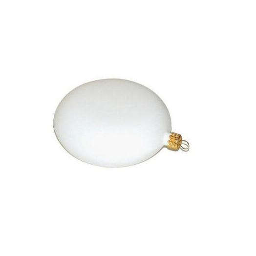 Μενταγιόν πλαστικό λευκό για διακόσμηση Ø10cm