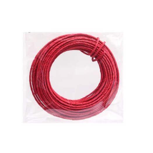 Σύρμα κατασκευών με χαρτί, Red, 2mmx10m