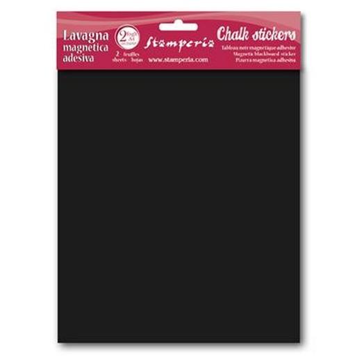 Αυτοκόλλητα Chalkboard φύλλα 21x29.7cm,- 2 τεμ, Stamperia
