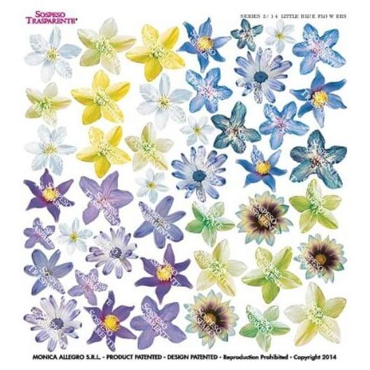 Τυπωμένo φύλλο-Ζελατίνη για Sospeso STS2.14, Little blue flowers