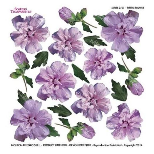 Τυπωμένo φύλλο-Ζελατίνη για Sospeso STS2.07 , Purple flower