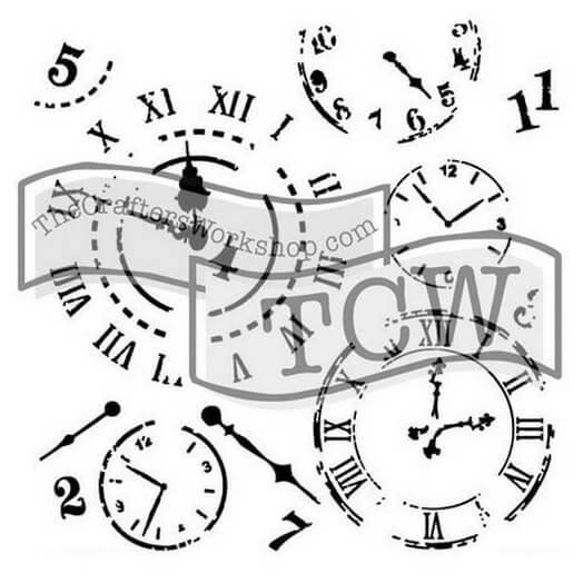Μάσκα Stencil, Time Travel 30,5x30,5cm