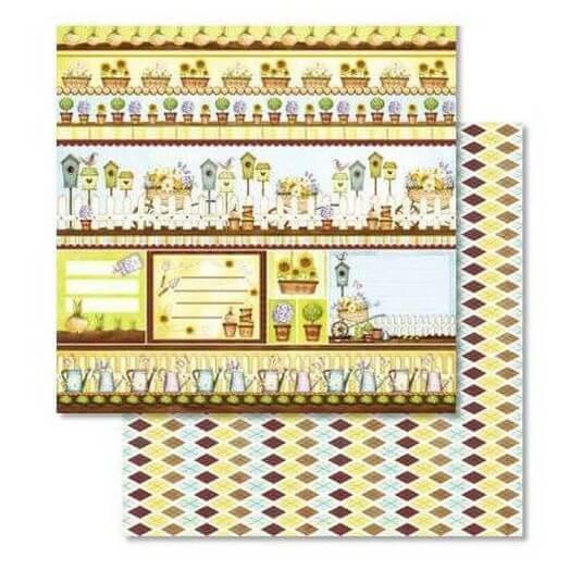 Χαρτί Scrapbooking Ursus με Glitter 30,50x30,5cm , Garden
