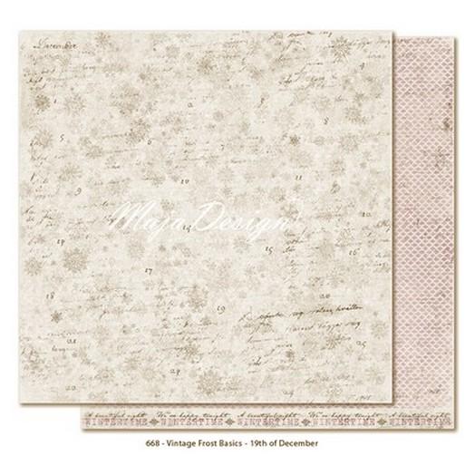 Χαρτί Scrapbooking Maja Collection, Frost Basic, διπλής όψης