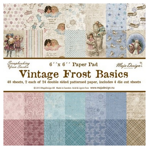 Album Scrapbooking Vintage Frost Basic, διπλής όψης