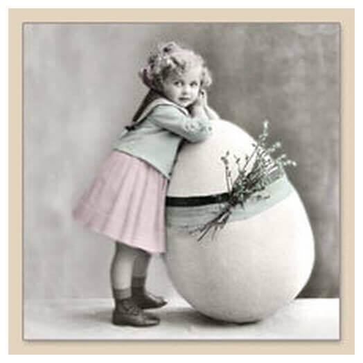 Χαρτοπετσέτα για Decoupage Vintage EASTER GIRL,1 τεμ.