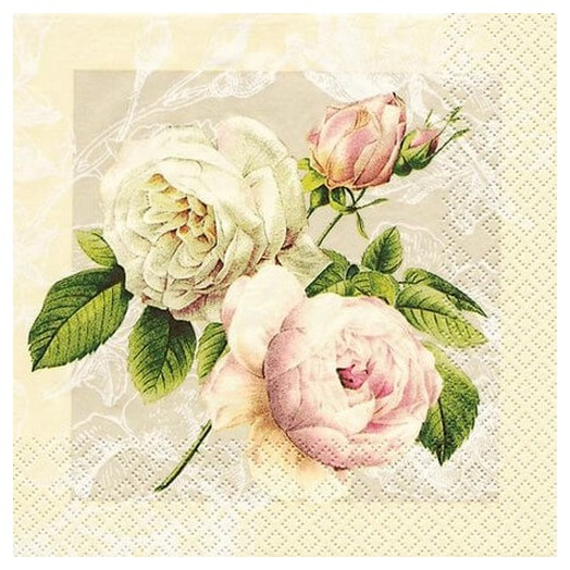 Χαρτοπετσέτα για Decoupage Cottage Rose, 1τεμ.