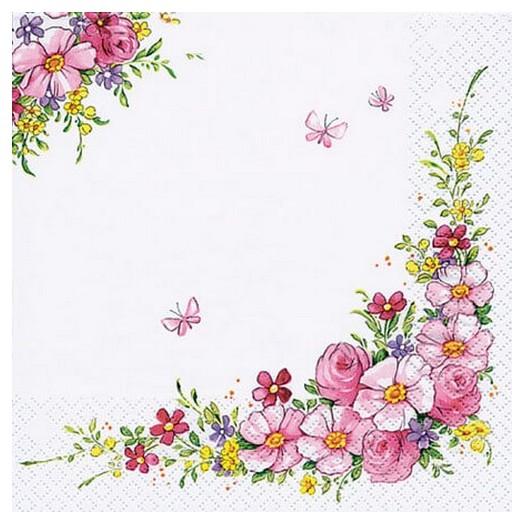 Χαρτοπετσέτα για Decoupage Cute flowers, 1τεμ.