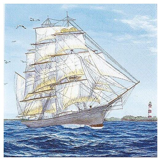 Χαρτοπετσέτα για Decoupage Sailing Ship, 1τεμ.