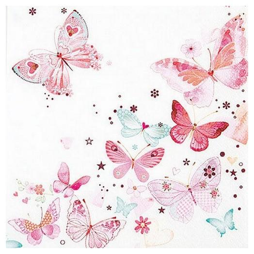 Χαρτοπετσέτα για Decoupage Lovely Butterflies, 1τεμ.