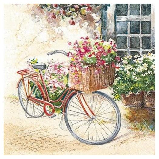 Χαρτοπετσέτα για Decoupage Flower bike, 1τεμ.