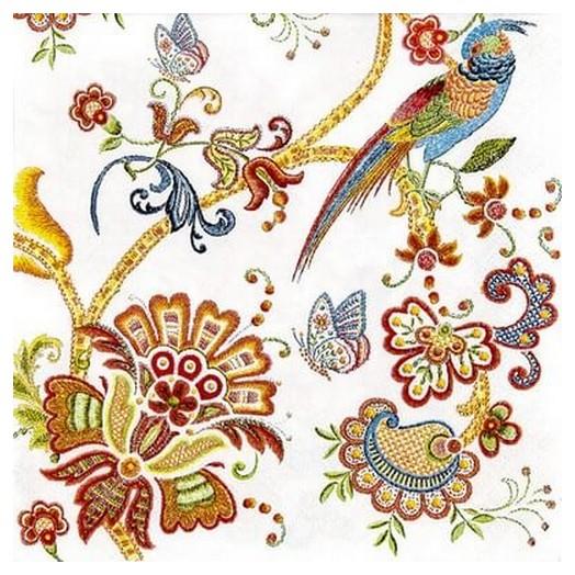 Χαρτοπετσέτα για Decoupage Embroidery flowers, 1τεμ.