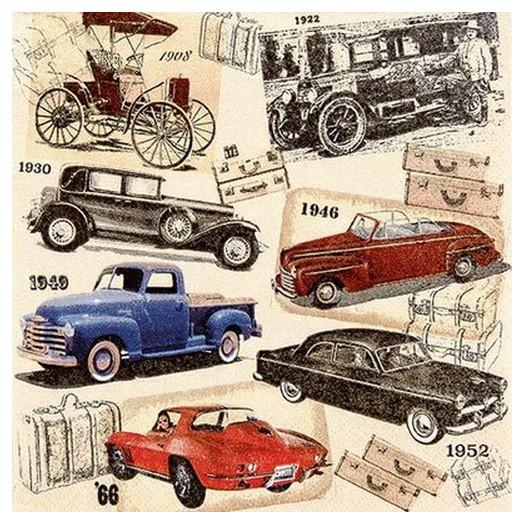 Χαρτοπετσέτα για Decoupage Classic cars, 1τεμ.