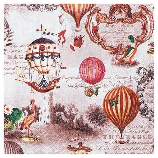 Χαρτοπετσέτα για Decoupage Vintage ballons, 1τεμ.