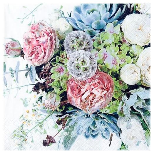 Χαρτοπετσέτα για Decoupage Flower Variety, 1τεμ.