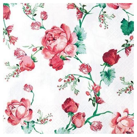 Χαρτοπετσέτα για Decoupage Cottage Roses, 1τεμ.