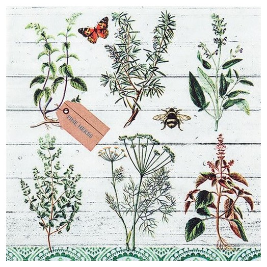 Χαρτοπετσέτα για Decoupage Floral study, 1τεμ.