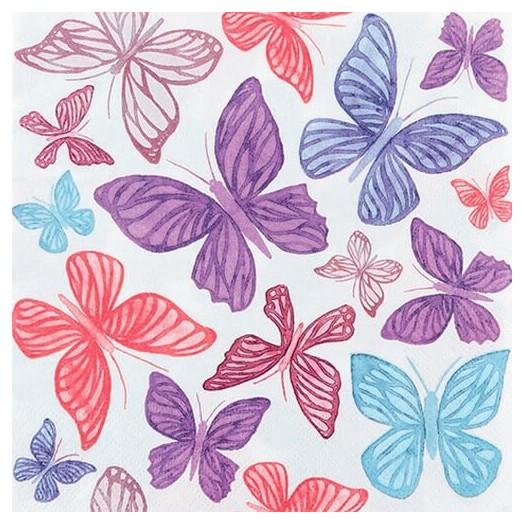 Χαρτοπετσέτα για Decoupage Colours in the air coral, 1τεμ.