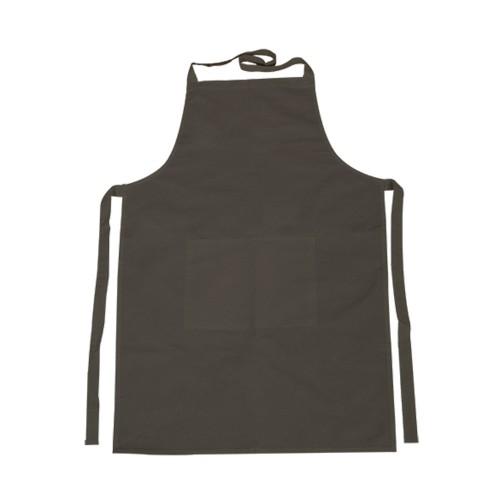 Υφασμάτινη ποδιά με τσέπη 70x75 cm, μαύρη