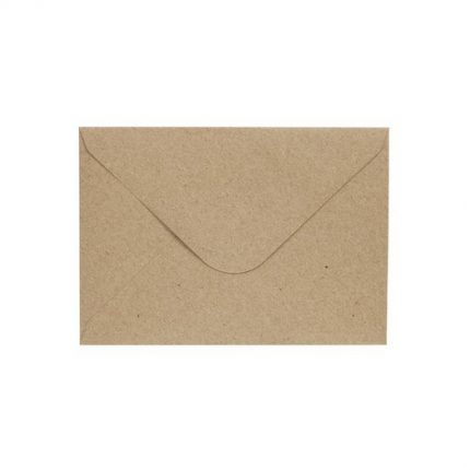 Φάκελοι για προσκλητήρια, 10 τεμ., natural