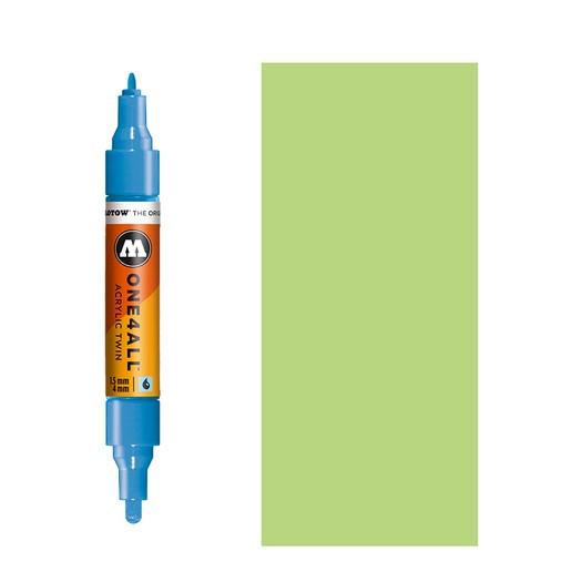 Μαρκαδόρος MOLOTOW ONE4ALL Twin, 219 Neon Green Fluorescent