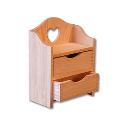Συρταριέρα με καρδιά 28x21x11cm