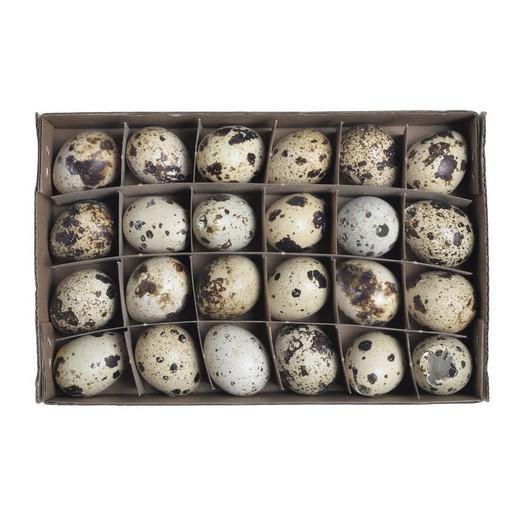Αυγουλάκια ορτυκιού natural διακοσμητικά, 24τεμ, 3cm