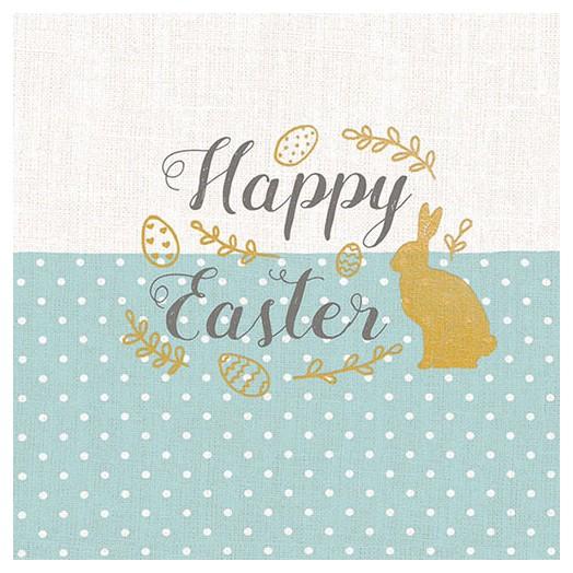 Χαρτοπετσέτα για Decoupage,  Embroidery Easter Blue 1 τεμ