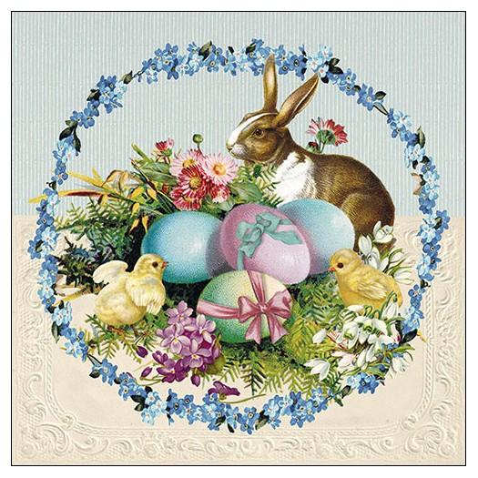 Χαρτοπετσέτα για decoupage, Easter Egg Wreath, 1 τεμ.