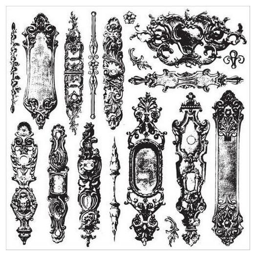 Σφραγίδες Set Iron Orchid Designs Decor Clear Stamps, 30,5x30,5cm