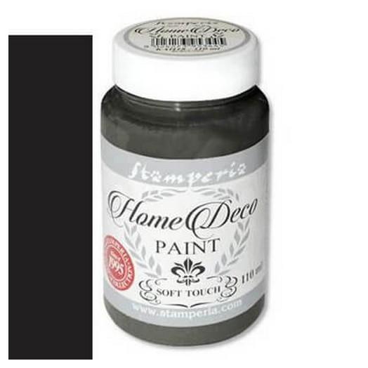 Home Deco Soft Paint 110ml Stamperia - Black