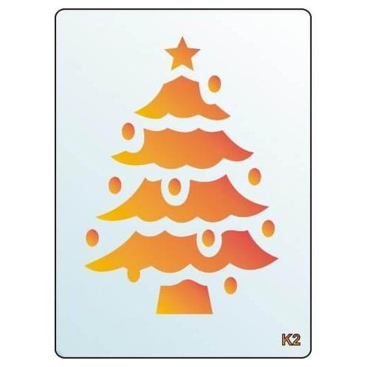Stencil 3D, 15x20cm, Christmas Tree, Pentacollection