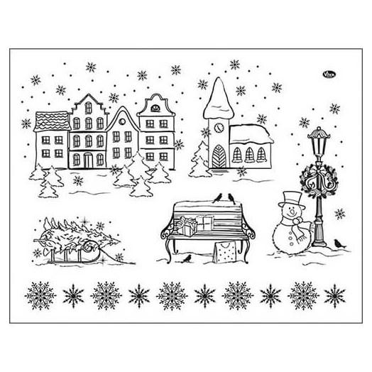 Σφραγίδα 14x18cm,Christmas Viva Decor