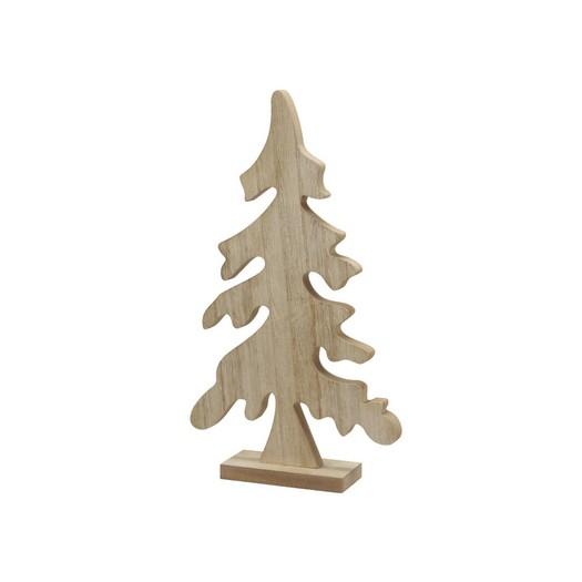 Ξύλινο δέντρο με βάση κυματιστό, 38,5cm