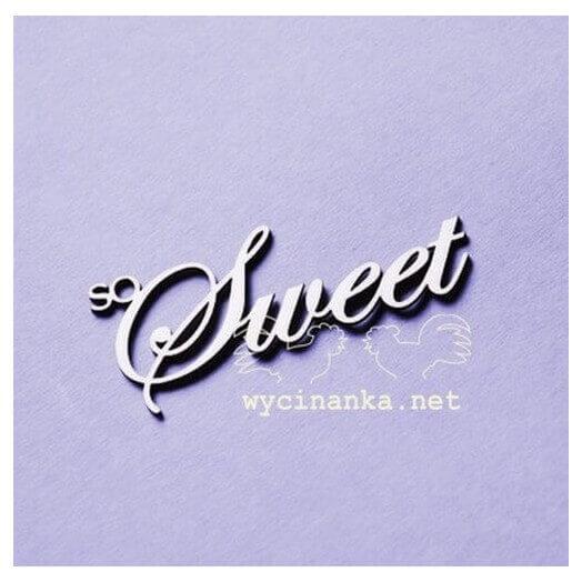 Chipboard Sweet, 6 x 3 cm