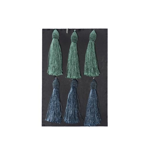 Φουντίτσες διακοσμητικές, blue/green, 6 τεμ.