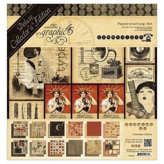 Album Scrapbooking Graphic 45 Communique, 12x2 Designs 30.5x30.5cm