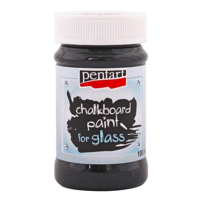 Chalkboard Paint για γυαλί 100ml Pentart, Black