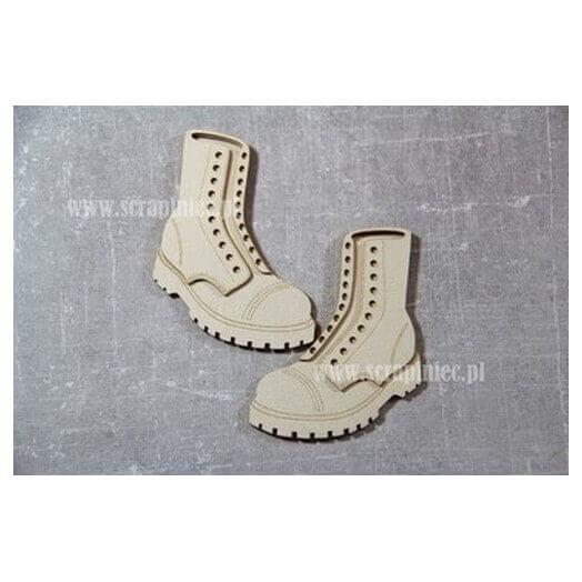 Διακοσμητικά Chipboard 3D ζευγάρι Μπότες 6x8 cm