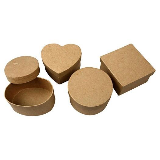 Κουτάκια χάρτινα 10-12cm σετ 4 τεμ.